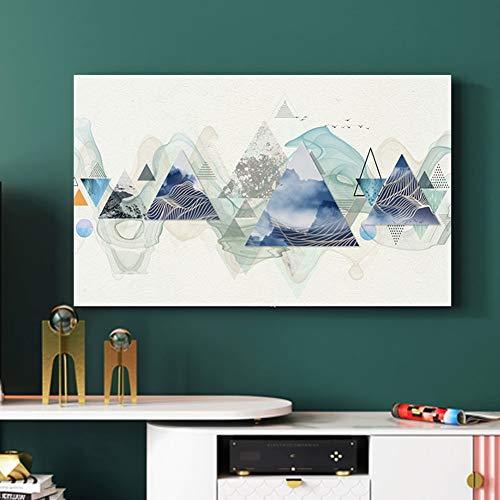 catch-L TV Abdeckung Dreiecksgeometrie TV-Cover Staubschutz Hängen Computergehäuse (Color : BH32-13, Size : 47-50inch)