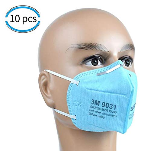 3M KN90 Face Mask high filtration barrier against Virus, Dust, Pollen, Bacteria, Allergies, Paint, Breathable Respirator Mask with Soft Lining and Earloops 3 PCS FFP2 MASK