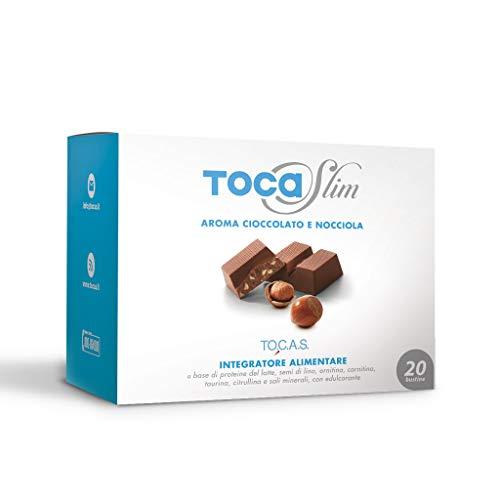 Tocaslim Gusto Cioccolato e Nocciola 20 Bustine - Integratore per Dimagrire - Tocas