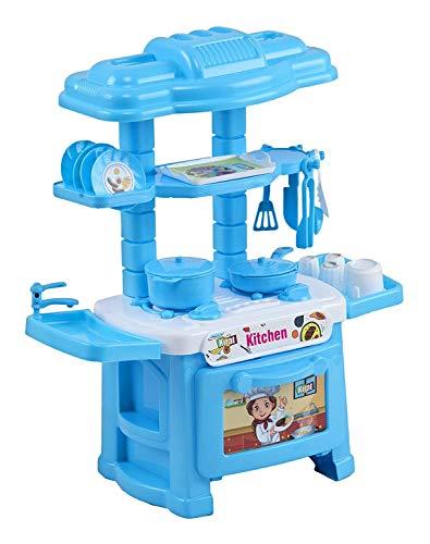 truvendor enterprises kitchen set toy for kids (kitchen set for 3+ kids, high quality Plastic) (Multi color,Pack of 32 pieces)