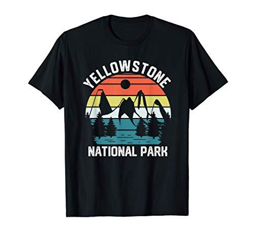 Design retrò Parco Nazionale di Yellowstone Vintage Nature Maglietta