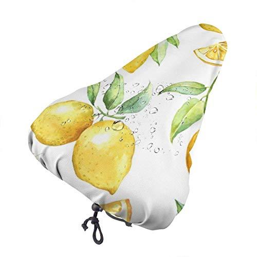 Enoqunt Gelber Zitronenbaum Wasserdichter Fahrradsitz Regenschutz mit Kordelzug, Regen- und staubdicht