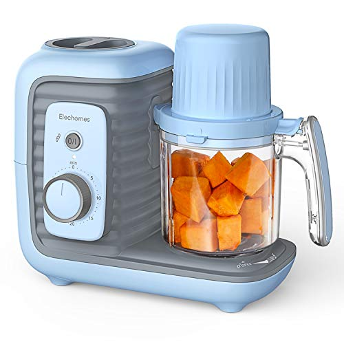 Baby Food Maker, Elechomes 8 in 1 Baby Food Processor Blender Grinder Steamer Warmer, Multifunctional Baby Food Mills for Cooking Organic Healthy Infants and Toddlers Puree, Timer Control