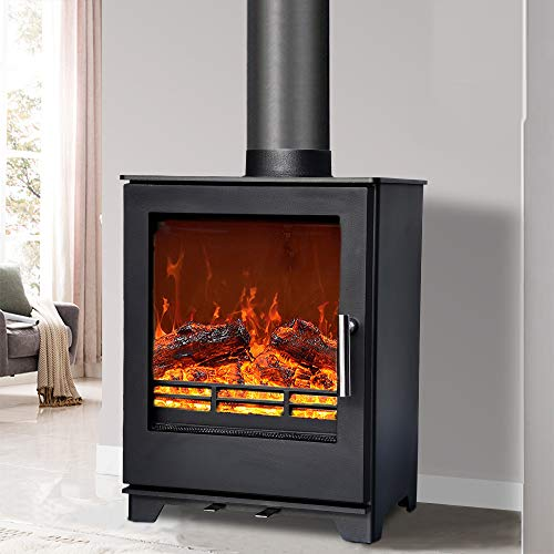 NRG 5KW Multifuel Woodburning Stove Eco Design High Efficiency Fireplace Defra Approved