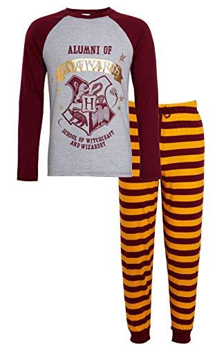 Harry Potter Pijama para hombre de Alumni Hogwarts con camiseta de Gryffindor + pantalones de salón