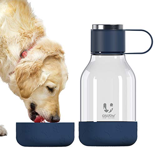 asobu Tritan Water Bottle with Dog Bowl Attached 50 Ounces