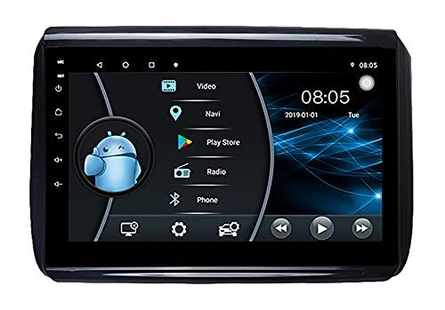 AEBDF Android 10 Navegación GPS Reproductor Multimedia DVD Control del Volante Unidad Central Ultrafina de 10 Pulgadas Estéreo para Peugeot 2008 2014,4 Core WiFi 1+16 (Ultra Thin)
