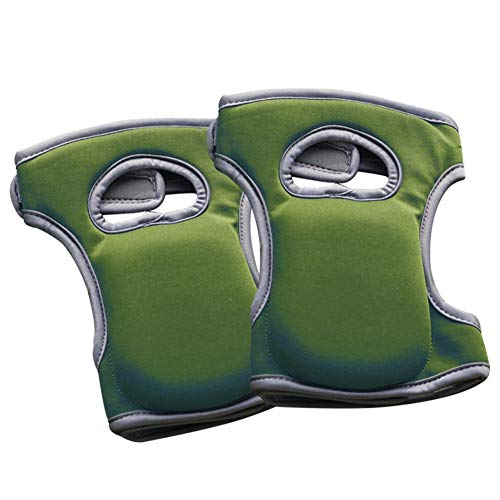 Marlon Nancy Gardening Knee Pads Soft Comfort Sponge Knee Caps Protective Cushion with Two Elastic Straps Knee Protectors for Garden and Floor Cleaning(1 Pair)(Green)