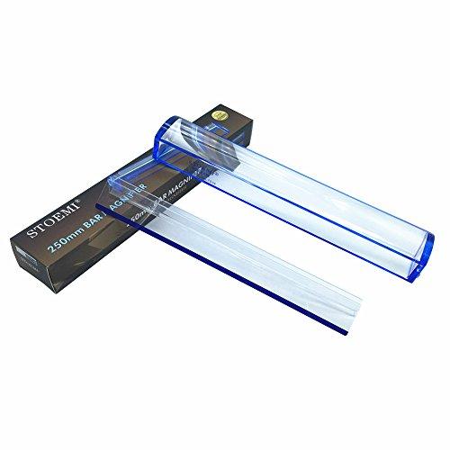 10 pulgadas 5X Lupa regla-lectura Azul (250mm) avec Línea Azul Seguimiento