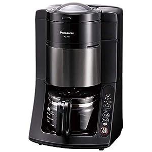 パナソニック 全自動コーヒーメーカー ミル付き 沸騰浄水機能 デカフェ豆コース搭載 ブラック NC-A57-K