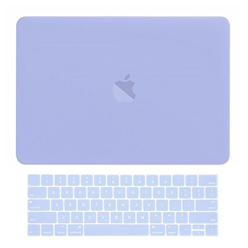 TOP CASE MacBook Pro 15 inch Case 2019 2018 2017 2016 Release A1707 A1990, 2 in 1 Signature Bundle Rubberized Hard Case + Keyboard Cover Compatible MacBook Pro 15' Touch Bar - Serenity Blue