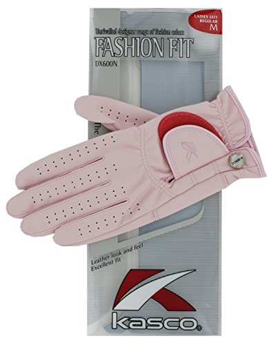 Kasco Women's Fit Fashion Golf-Handschuhe, Gr. XL, Pink