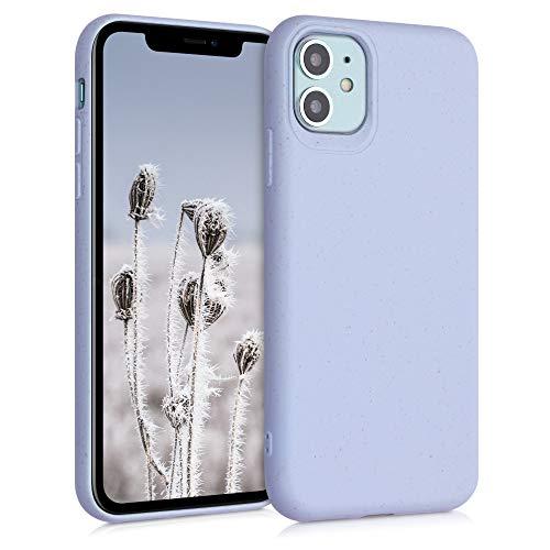 kalibri Carcasa Compatible con Apple iPhone 11 - Funda de TPU y Trigo Natural ecológico - Lavanda Pastel