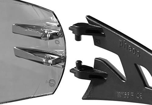 Uvex Sonnenbrille Schutzbrille pheos getönt, 100% UV-Schutz, gemäß EN 166 + EN 170 - 3