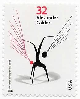USA Postage Stamp Single 1998 Un Effet Du Japonais Alexander Calder Sculptor Issue 32 Cent Scott #3202