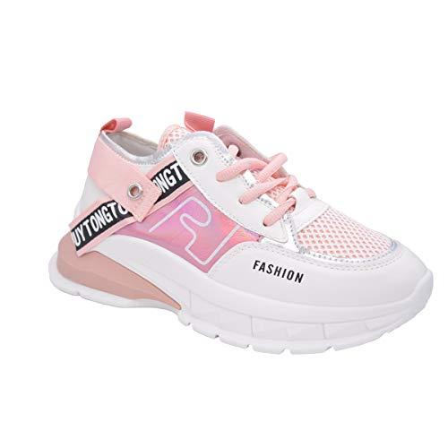 Zapatillas de plataforma CucuFashion para mujer – plataforma de tacón alto para mujer | Zapatillas ligeras y transpirables gruesas, color Rosa, talla 39 EU