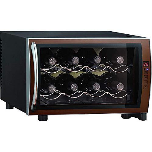 Mini refrigerador de vino refrigerador pequeño encimera termoeléctrico bodega refrigerador 8 botellas para dormitorio oficina cocina