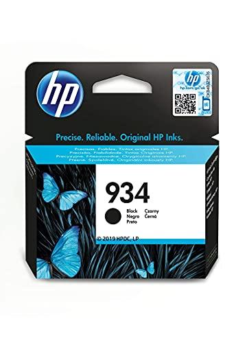 HP 934 C2P19AE, Negro, Cartucho Original de Tinta, compatible con impresoras de inyección de tinta HP OfficeJet 6820; HP OfficeJet Pro 6230, 6830