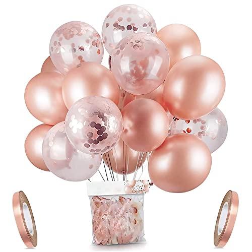 Oro rosa coriandoli palloncini party balloon 30,5 cm per matrimonio, compleanno, baby shower, laurea, cerimonia party decorazioni(30 pezzi)