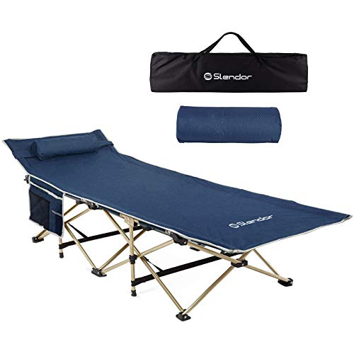 Slendor Folding Camping Cots for Adults Portable...