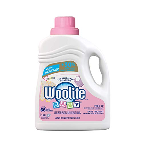 Woolite Baby, Hypoallergenic Laundry Detergent, Mega Value Pack, 2.96 L, Free of Harsh Chemicals, Standard & HE