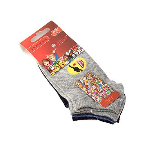 Emoji Socke Kurzsocken - 3 pack - ohne Frotte - Humor - Coton - Multicolore - The Iconic Brand - 31/34