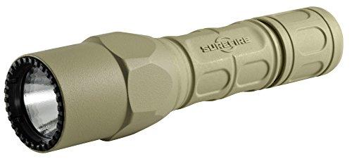 Surefire G2X Pro Tan, Linterna LED de Doble Salida de 320 lúmenes, nitrolon