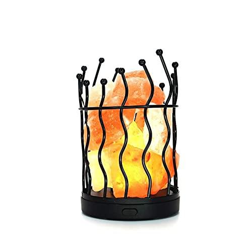 GFDFD Lámpara de Sal Himalaya Sal de Piedra de Sal de Sal/lámpara de Mesa de batería USB lámpara de Noche luz de Noche luz de Noche decoración de la casa de Despertador luz
