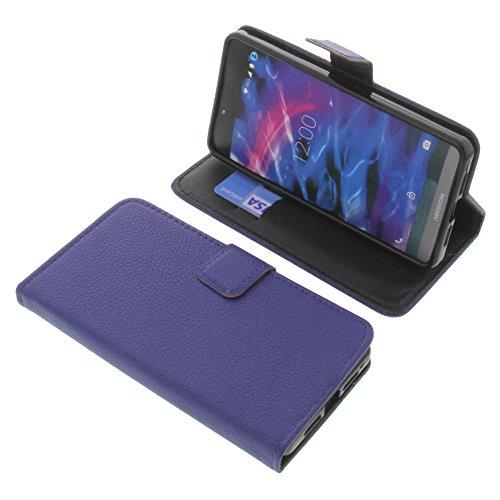 foto-kontor Tasche für MEDION Life X5004 Book Style blau Schutz Hülle Buch