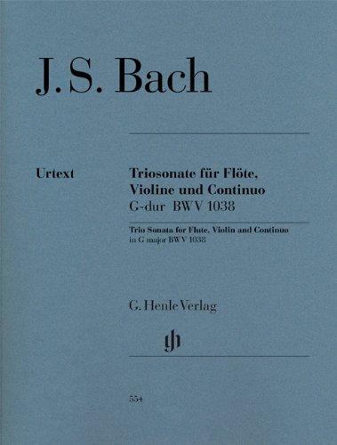 Triosonate für Flöte, Violine und Continuo G-dur BWV 1038