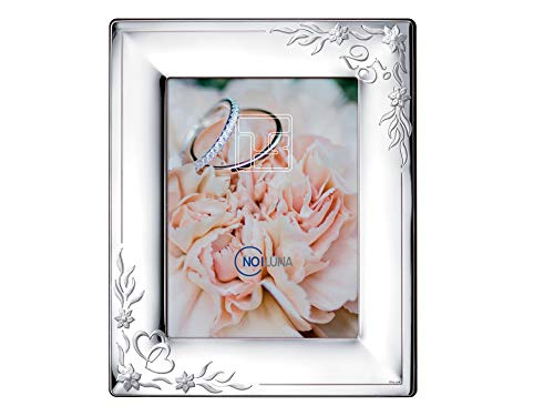Noiluna Cornice Portafoto in Argento 18x24 - Anniversario 25 Anni di Matrimonio, Nozze d'Argento