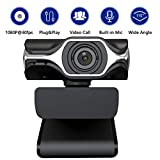 HD Pro Webcam - Full HD 1080p Video Calling and Recording, Dual Stereo Audio, Stream Gaming, Built-in Noise canceling Microphone,Small, Agile, Adjustable, Black