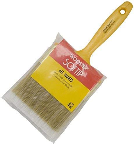 Wooster Brush Q3108-4 Paintbrush Softip, 4-Inch, Yellow