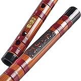 JIAChaoYi Clarinete de Flauta Transversal Chino Dizi, Flauta de...