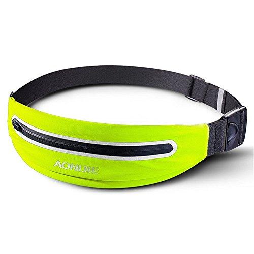 AONIJIE Unisex Ligero Deportes al Aire Libre Cintura riñonera maratón Correr Cintura Pack