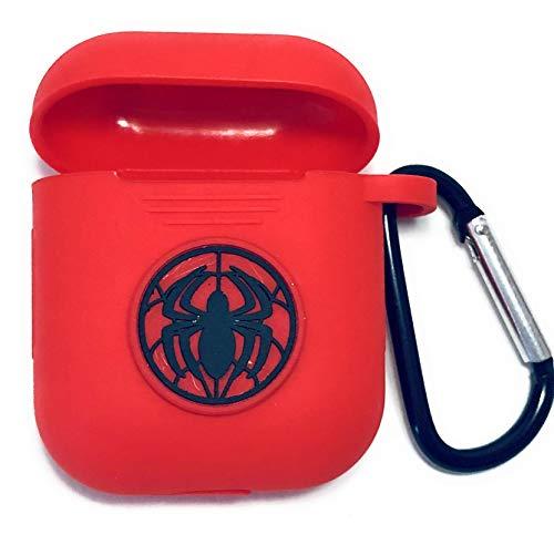 PFEISCO. Trade beschermhoes compatibel met Apple Airpods Case Superhelden Design Cartoon Bluetooth koptelefoon ontwerp vergelijkbaar met Marvel Ironman Batman Spiderman, 4,5 x 5,5 x 2,4 cm, Spiderman net 25