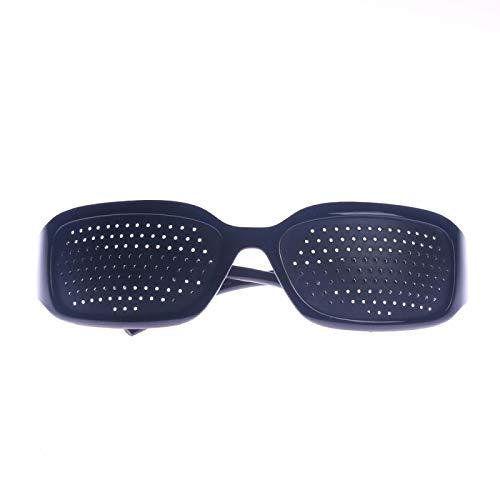 NJJX Unisex Corrección De Ojos Ejercicio Vista Mejora Del Cuidado De La Visión Gafas Estenopeicas Cuidado De Los Ojos Ejercicio Gafas Estenopeicas Negro Negro