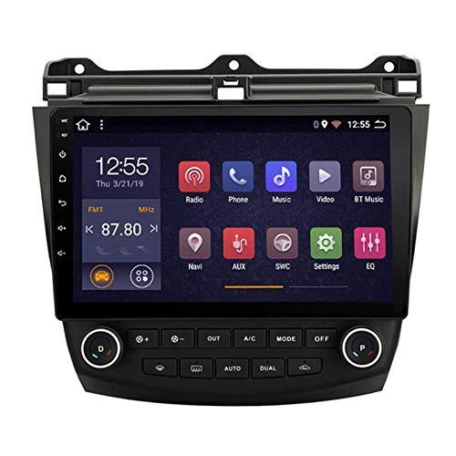 JALAL Unidad Principal de Radio de Coche estéreo de Doble DIN de 10.1 Pulgadas para Honda Accord 7 2003-2007, navegación GPS con Android 8.1, Bluetooth/Radio/Mirrorlink/FM/cámara Trasera