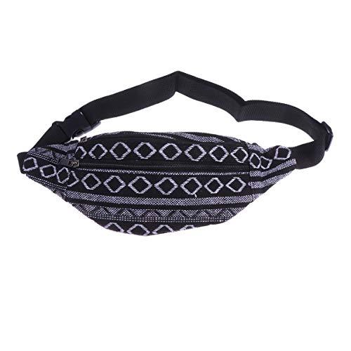 Tendycoco - Riñonera étnica tribal de tela tribal, bolsa de viaje para mujer y hombre