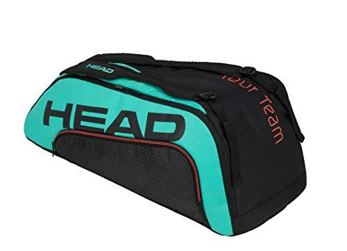 HEAD Unisex-Erwachsene Tour Team 9R Supercombi Tennistasche, schwarz/türkis