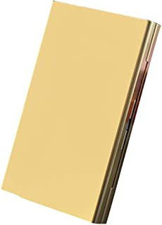 20-Pack Ladies Cigarette Case, Aluminum Alloy Ultra-Thin Cigarette Case with Creative Gifts (Color : Gold)