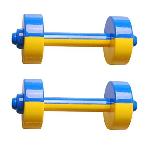 TOYANDONA 1 Paar Plastik Kinder Hanteln Spielzeug Kinder Fitness Trainingsgeräte Sportspielzeug für Kinder Kinder Studenten (Blau)