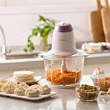 Credly Electric Food Chopper Processor, BPA-Free Glass Bowl Blender Grinder for Meat, Vegetables, Fruits and Nuts
