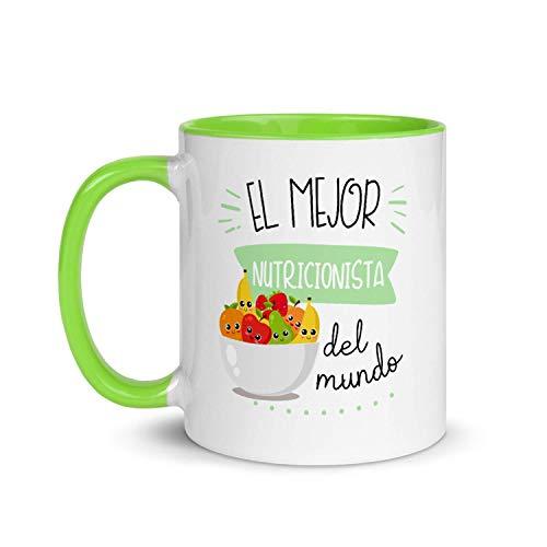 Kembilove Taza de Desayuno del Mejor Nutricionista del Mundo – Tazas de Café para Profesionales y Trabajadores para la Oficina – Tazas de Té en Color de Profesiones – Taza de Cerámica de 350 ml