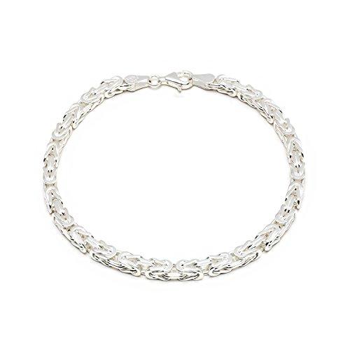 925 Silberarmband: Königsarmband Silber 4mm 21cm - KA-40-21