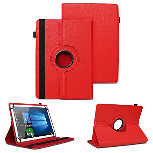 NAUC Universal Tasche Schutz Hülle Tablet Schutzhülle Tab Hülle Cover Bag Etui 10 Zoll, Farben:Rot, Tablet Modell für:Allview Wi10N PRO 10.1