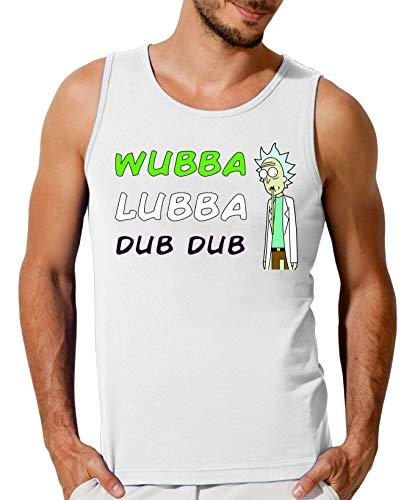 Rick Morty Wubba Lubba Dub Dub Camiseta sin Mangas para Hombre Small