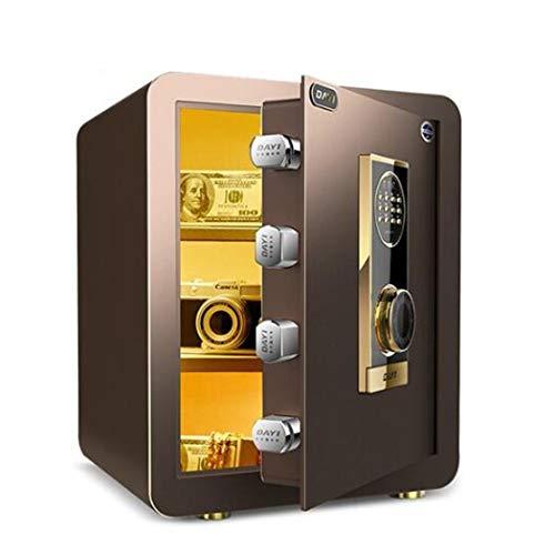 Thuis Keypad Safe, Wall of kabinet Verankering Ontwerp Brandveilige Veiligheid van het staal Kluis met digitale elektronisch slot voor kantoor aan huis hotel,Brown