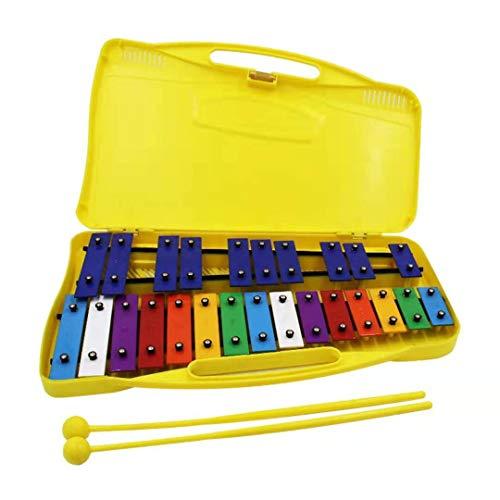 Seika 鉄琴 カラフル 25音 ミュージカル教材 2マレット付き オルフ楽器 (yellow)