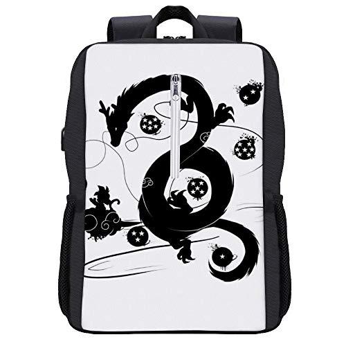 Dragon Ball Z Shenron Wish Rucksack Daypack Bookbag Laptop Schultasche mit USB-Ladeanschluss